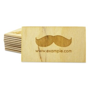 Drewniane wizytówki 3 mm (lakierowane)