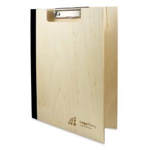 Drewniany clipboard A4 z okładką i grawerem (surowy)