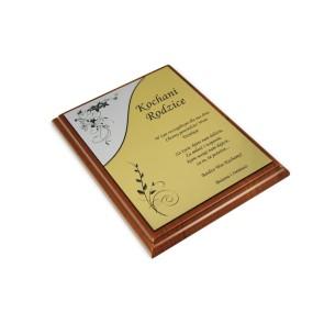Dyplom na drewnianym podkładzie – 175x225 mm