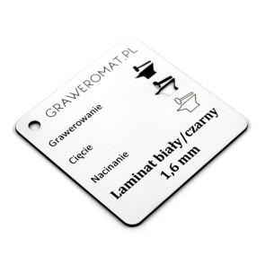 Laminat biały/czarny 1,6 mm