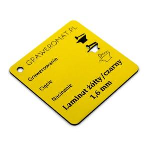 Laminat żółty/czarny 1,6 mm