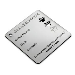 Laminat szczotkowany aluminium/czarny 1,6 mm
