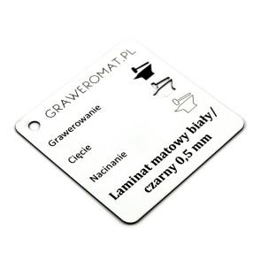 Laminat matowy biały/czarny 0,5 mm