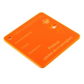 Pleksa pomarańczowa 3 mm