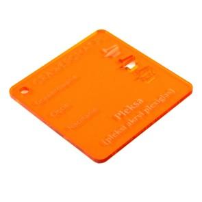 Pleksa pomarańczowa transparent 3 mm