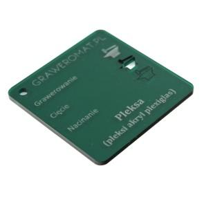 Pleksa zielona transparent 3 mm